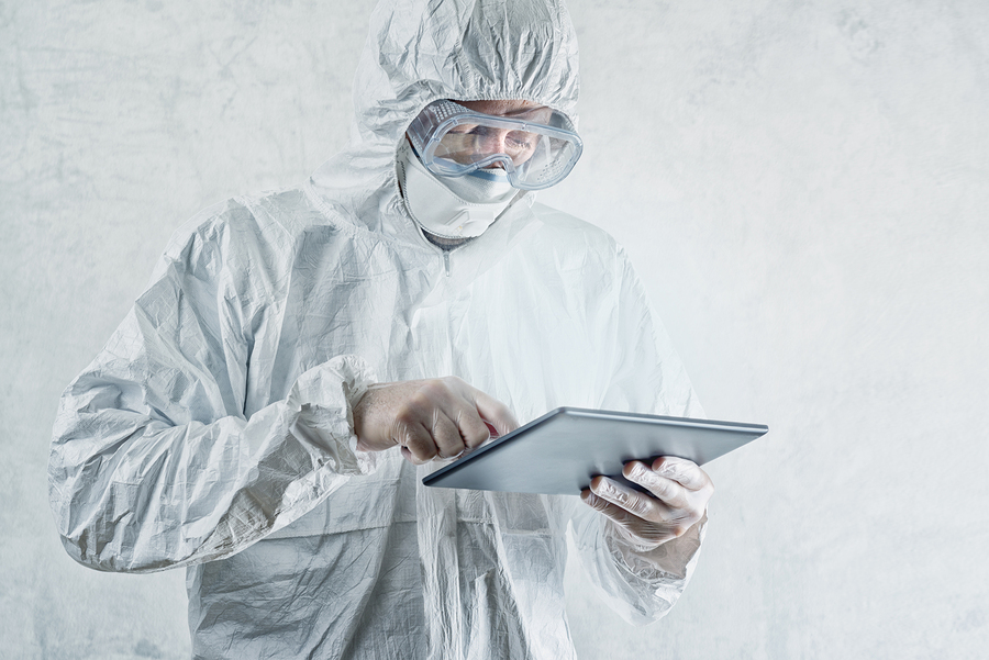 Chemical Scientist Using Digital Tablet Computer
